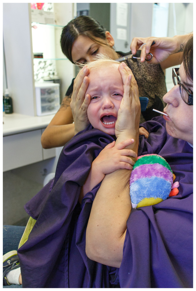Ben's first haircut